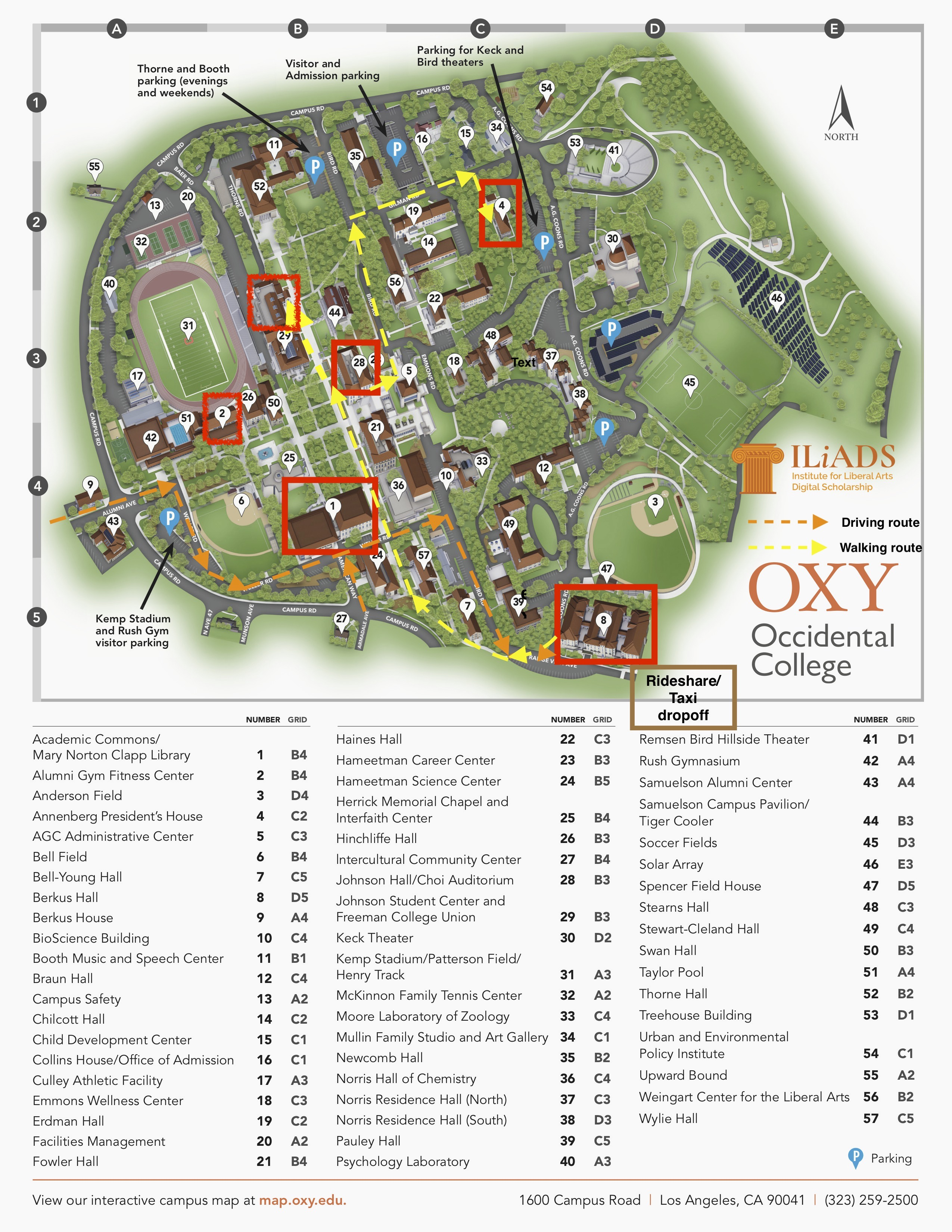 Map Of Occidental College